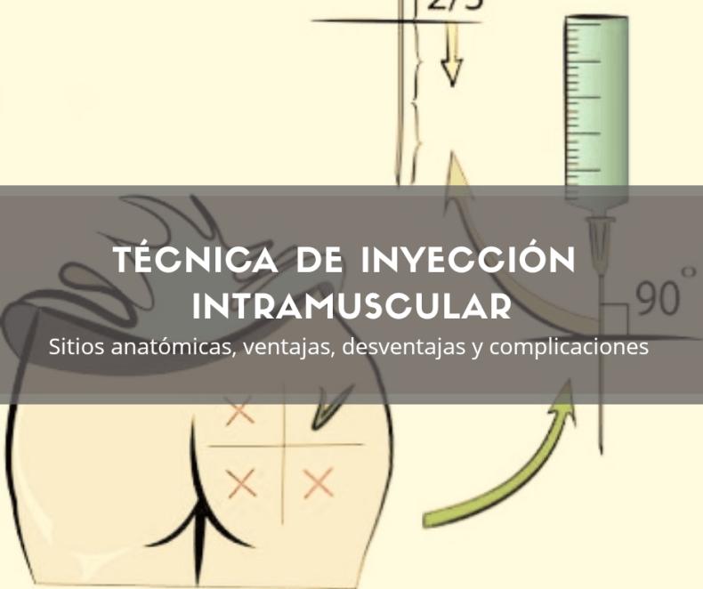 Técnica de inyección intramuscular