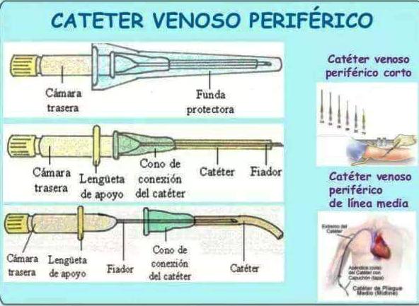 PARTES DEL CATÉTER VENOSO PERIFÉRICO