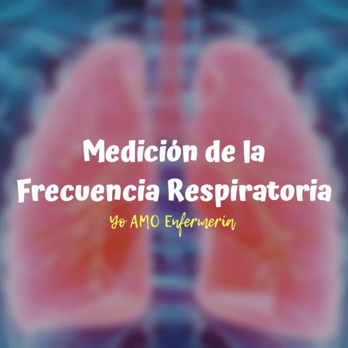 Número de ciclos de respiración completos, inspiración seguida de espiración, que realiza una persona en un minuto.
