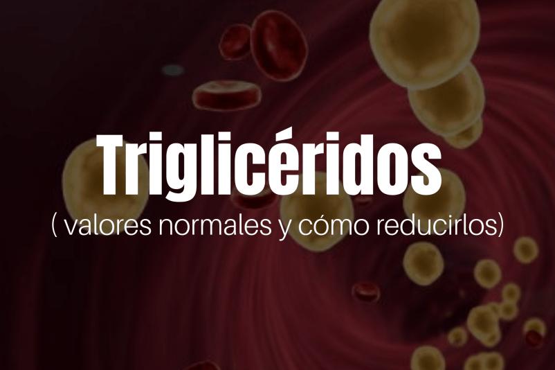 Triglicéridos, sus valores normales y como reducirlos.