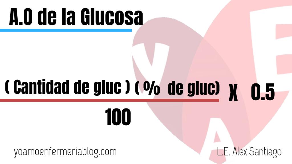 formula de gua de oxidación de la glucosa
