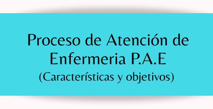 PROCESO DE ATENCIÓN DE ENFERMERÍA CARACTERÍSTICAS Y OBJETIVOS