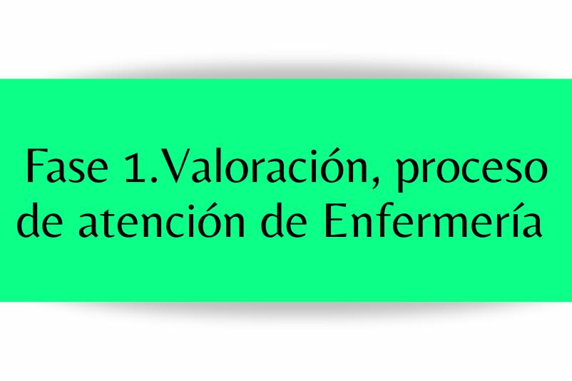 VALORACIÓN PROCESO DE ATENCIÓN DE ENFERMERÍA