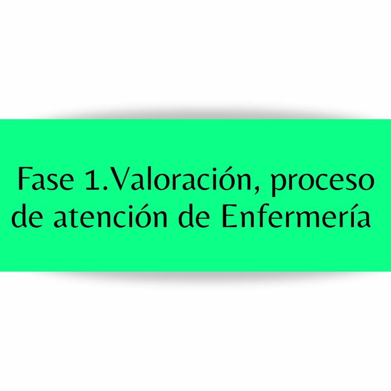 Valoración, proceso de atención de enfermería