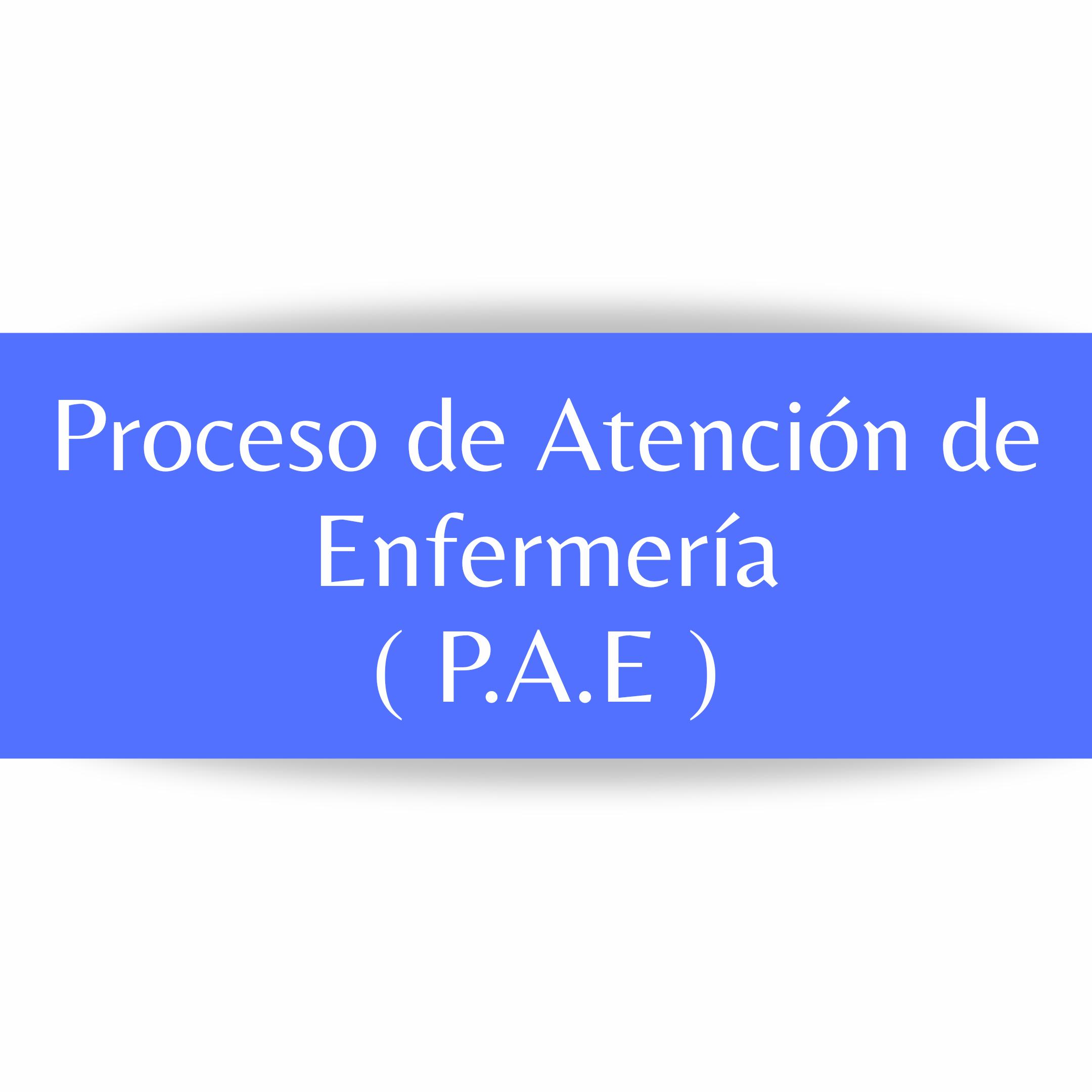 PROCESO DE ATENCIÓN DE ENFERMERÍA, DIAGNÓSTICOS.