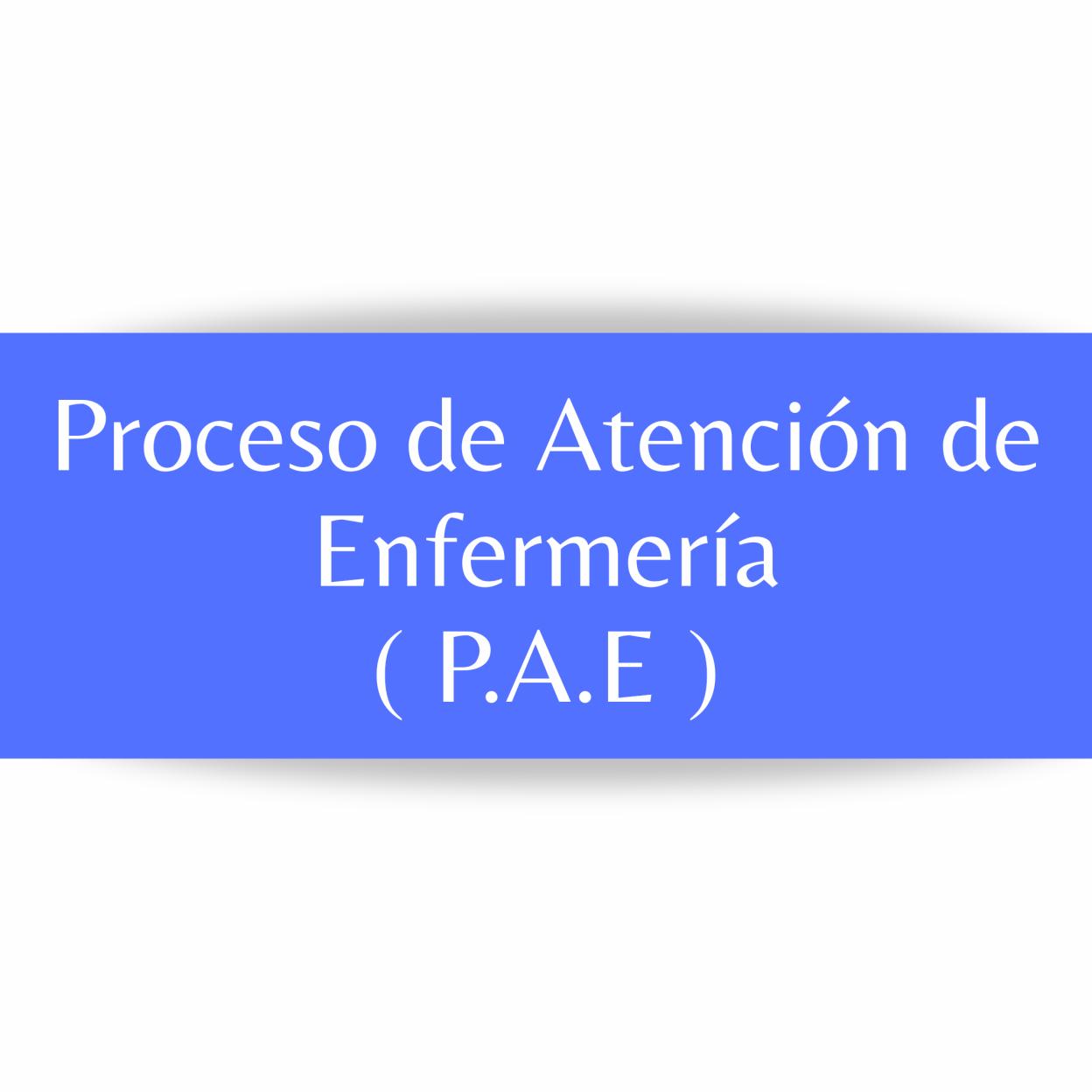 ElProceso de Atención de Enfermería (PAE)es la aplicación del método científico en la práctica asistencial que nos permite a los profesionales prestar los cuidados que demandan el paciente, la familia y la comunidad de una forma estructurada, homogénea, lógica y sistemática.