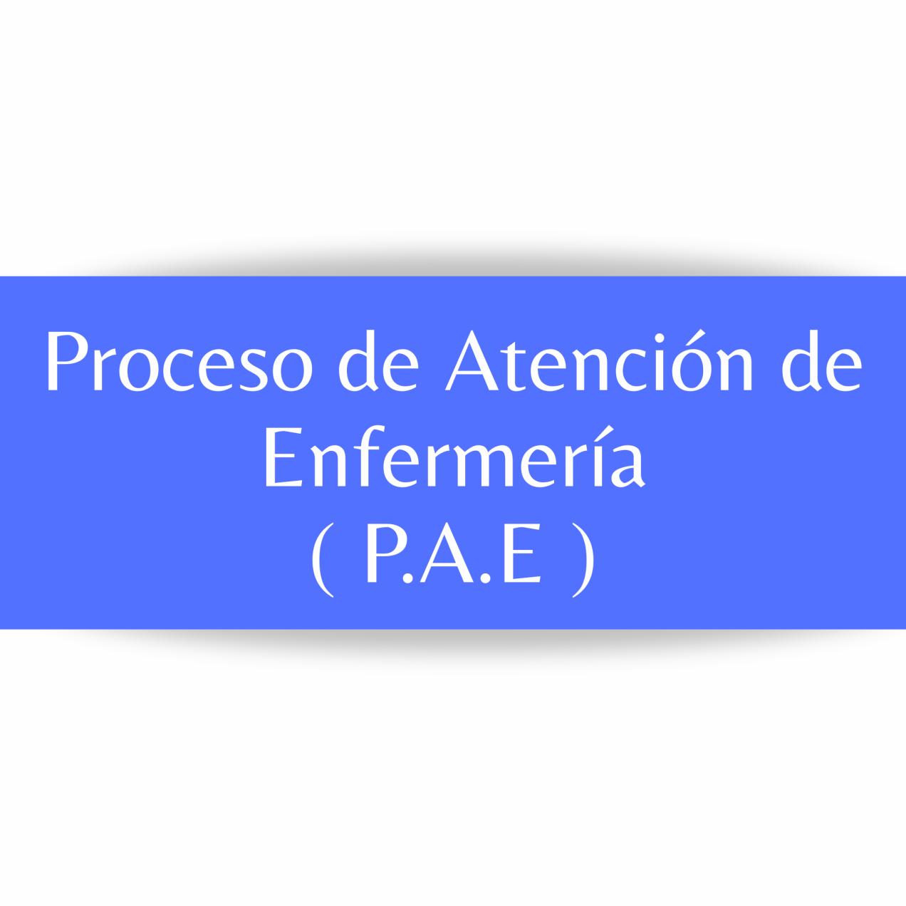 PROCESO DE ATENCIÓN DE ENFERMERÍA.