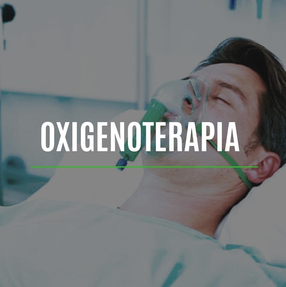 La oxigenoterapia es la administración de oxígeno O2 con fines terapéuticos, en concentraciones más elevadas que la existente en la mezcla de gases del ambiente