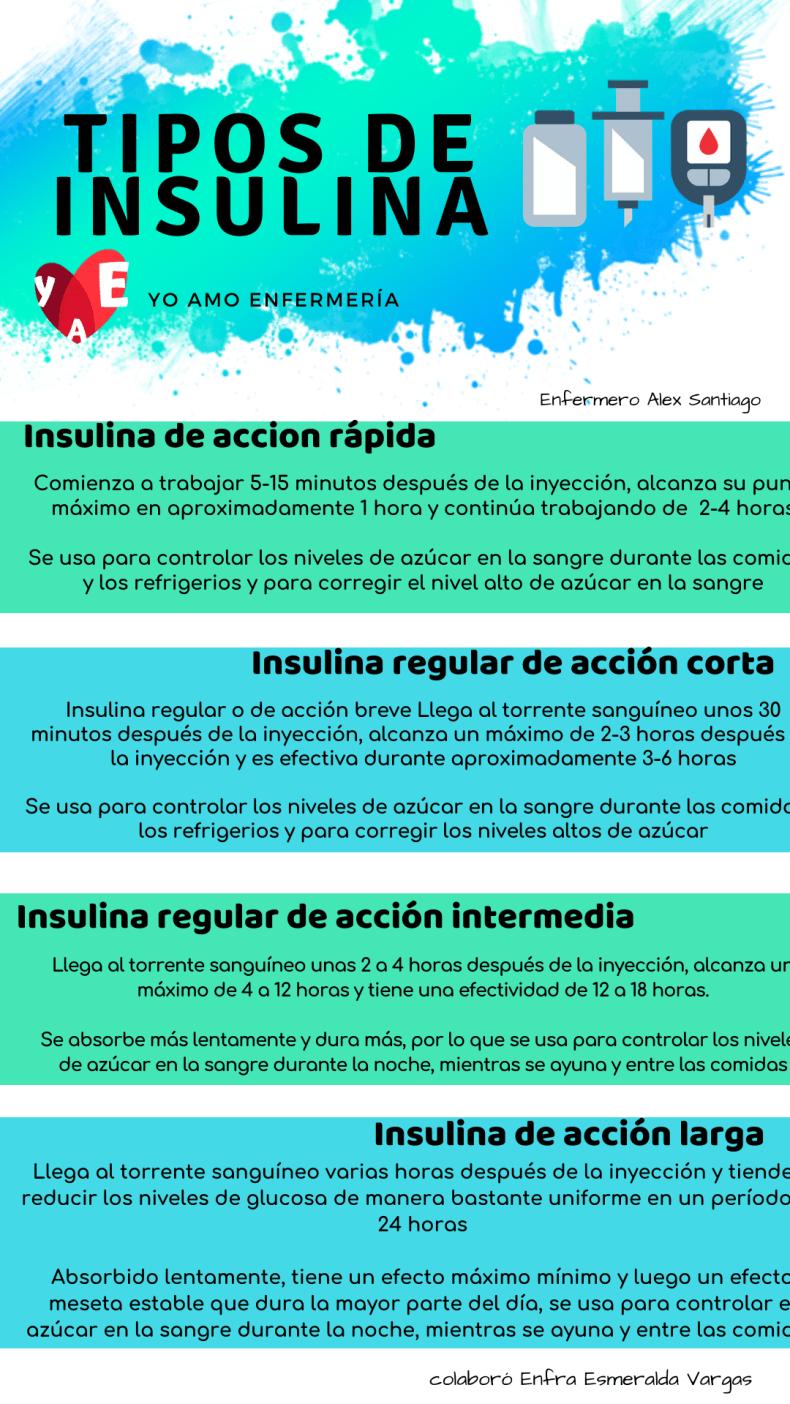 infografia tipos de insulinas
