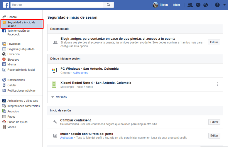 seguridad en facebook