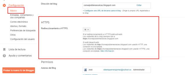 activar https en blogger gratis