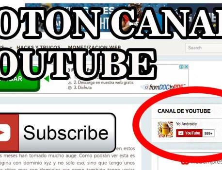 Insertar botón de suscribirse en Youtube en una pagina web o blog