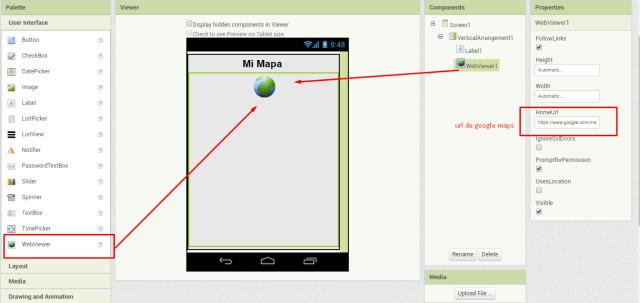 google maps en app inventor