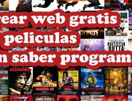 Crear una pagina web de películas gratis