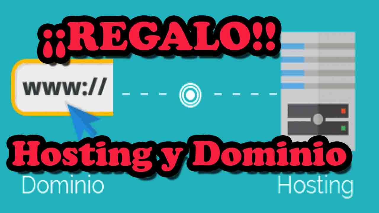 regalo hosting y dominio gratis