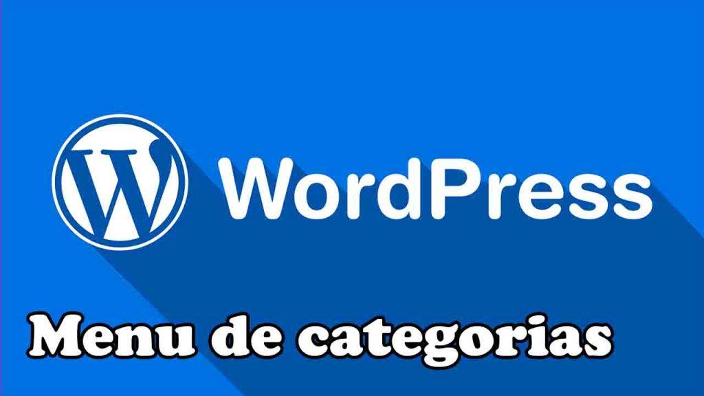 crear menu de categorias en wordpress