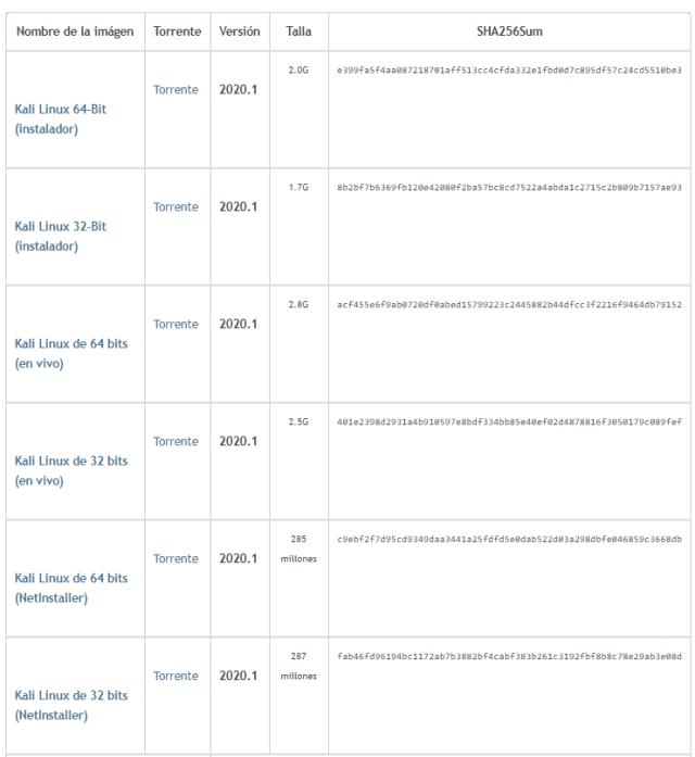 descargar kali linux 2020 gratis