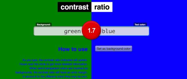 Contrast Ratio test