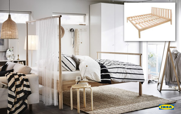 Product image with the product in use - ikea bed frame