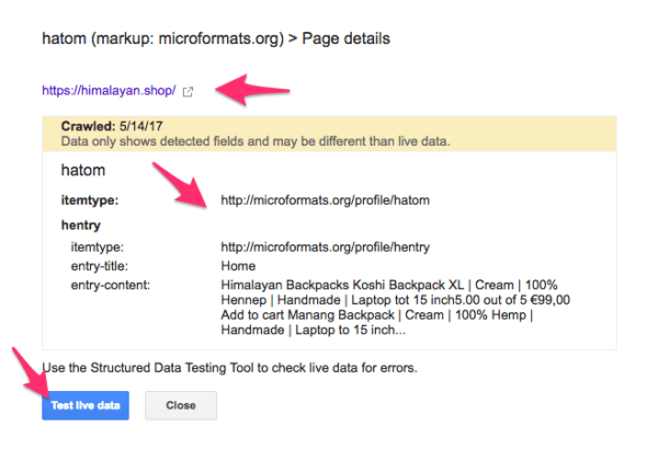 Google search console popup