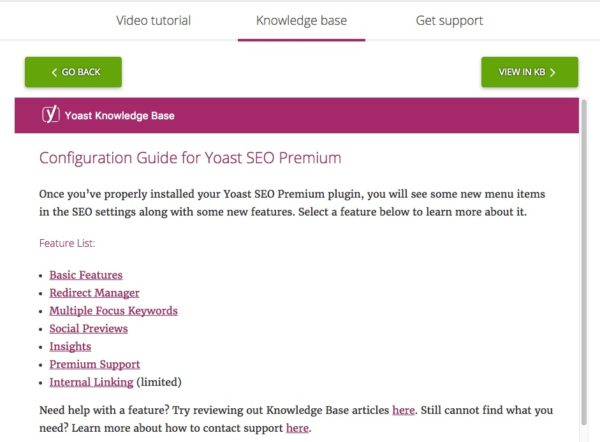 kb refresh in Yoast SEO
