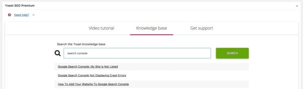 search knowledge base