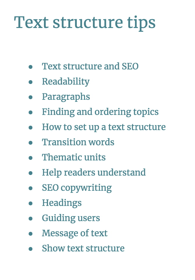 Blog post structure: How to set up an easy-to-read text
