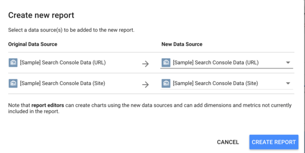 Connect your own site to the Search Console Report