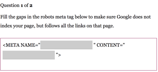 Robots meta tag gap fill question