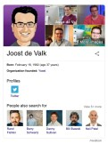 The personal Knowledge panel of Joost de Valk