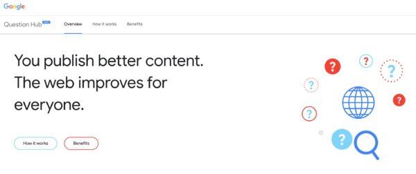 tangkapan layar Question Hub di Google