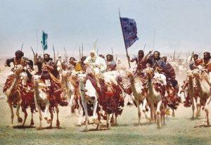 Escena de la película Lawrence de Arabia. La Toma de Áqaba.