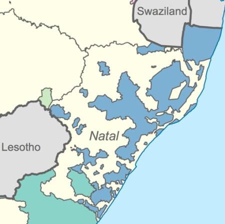 חבל נאטאל הוא אולי הדוגמא הקרובה ביותר לגיאוגרפיה הפוליטית של הגדה המערבית. מושבה בריטית לשעבר, נאטאל הפכה לחלק מדרום אפריקה ב-1910. בתחומיה מתגוררים הזוּלוּ, הקבוצה השחורה הגדולה ביותר בדרום אפריקה (בערך ששה מיליונים בשוֹך האפרטהייד). בשבילם הקימו הלבנים את הבנטוסטן של ׳קוואזוּלוּ׳, וקיוו שהוא יתבע עצמאות, כדי שיהיה אפשר למחוק את הזולו מן הסטטיסטיקה. הזולו לא שיחקו. תחת זאת, ב-1983, חלקם הציעו עיסקה: דרום אפריקה תעניק להם את כל נאטאל, על עריה, על משאביה ועל חופיה. זה היה יותר מדיי בשביל ממשלת האפריקנרים. היא החמיצה, אולי-אולי, את ההזדמנות האחרונה לחלק בהיגיון ובנדיבות. אחת-עשרה שנה אחר כך היא הסכימה למדינה רב-גזעית, או מה שישראלים היו קוראים ״מדינה דו-לאומית״. אין זאת אומרת שהיא היתה מונעת מדינה כזאת אילו הסכימה לוותר על נאטאל, אבל זו אסוציאציה מועילה
