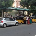 Traffic woes at Vijaya Nagar Bus stand
