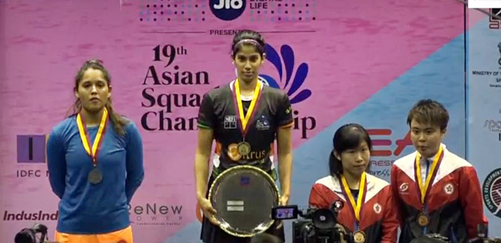 Joshna Chinnappa wins the Asian Squash Championship
