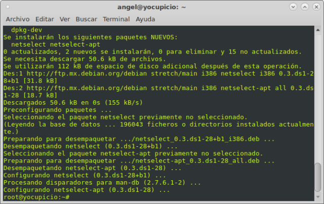 apt-get install netselect netselect-apt