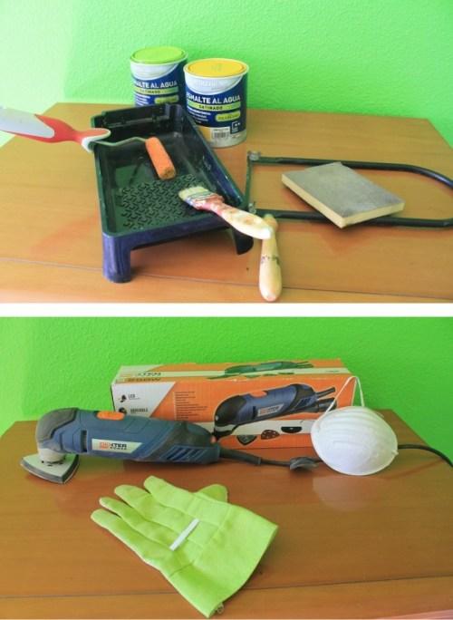 materiales para transformar un mueble