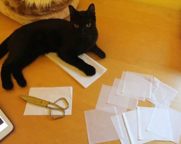 piezas de papel de seda