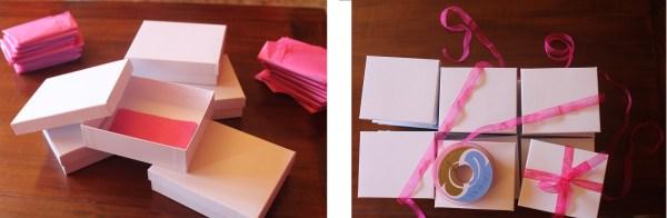 cajas blancas de regalo