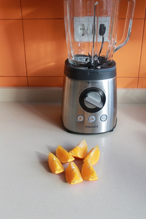 triturar naranja