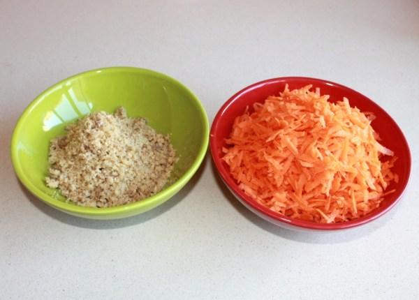 zanahoria y nueces