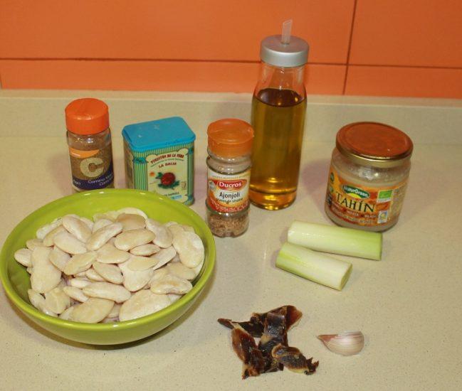 Ingredientes para humus