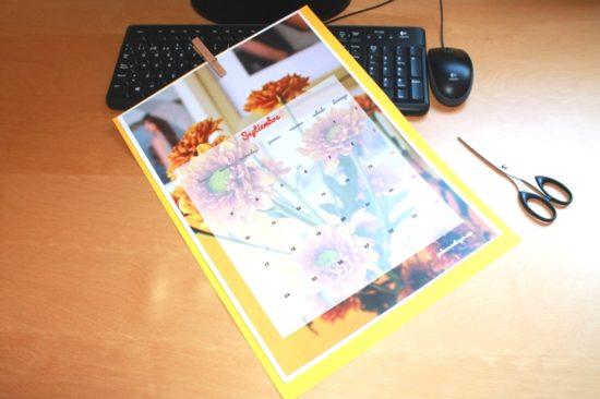 calendario septiembre margaritas