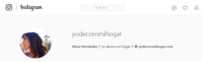 perfil instagram @yodecoromihogar