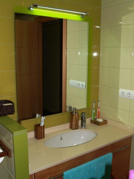 luces espejo baño