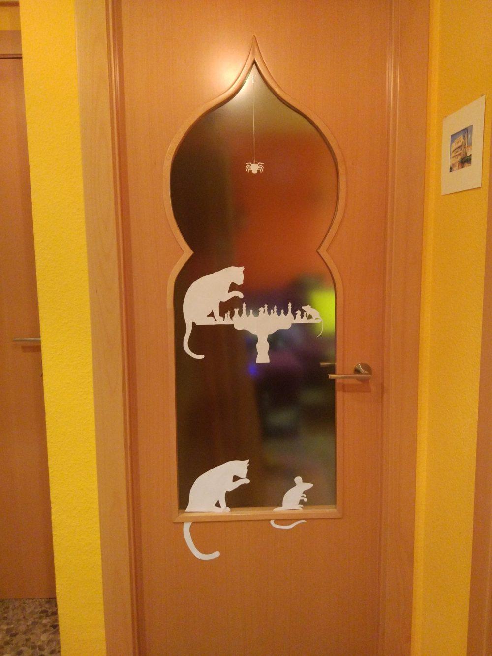 puerta gato y ratón ajedrez