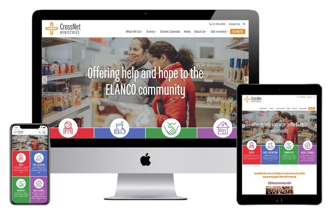Crossnet website design