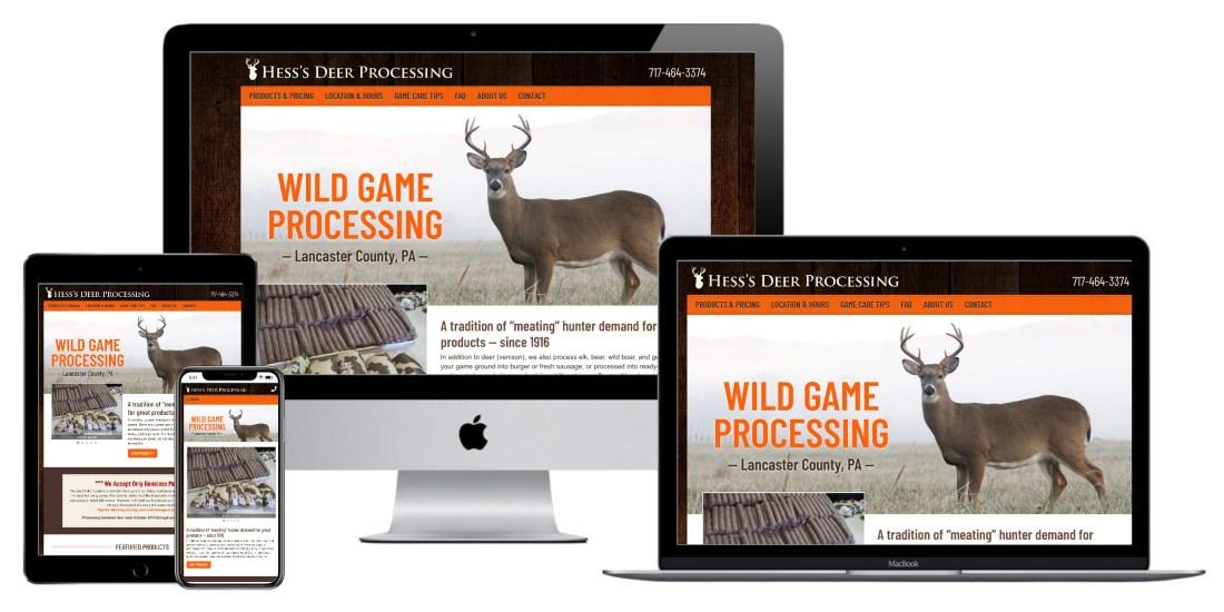 Hess's Deer Processing website