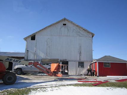 old barn siding