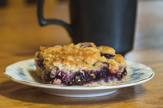 Blueberries make a great coffee cake...